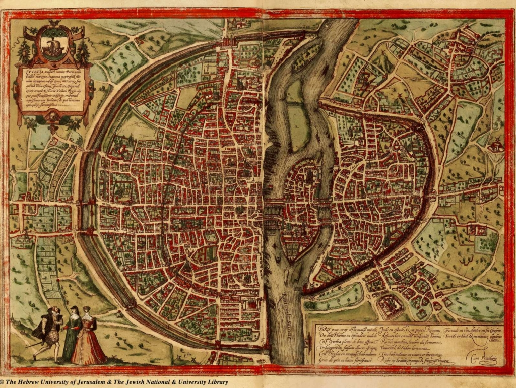 Historischer Paris Plan